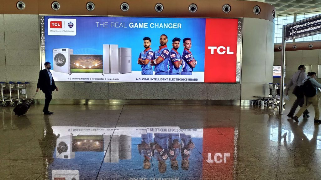 TCL billboard at Indian airport